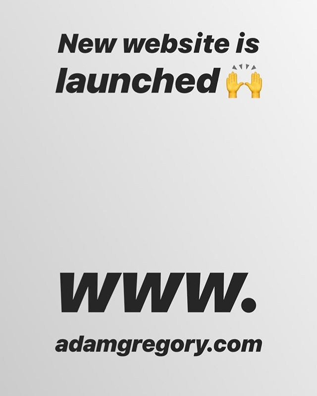My new site has launched👊!! Swing by check it out, keep updated on all things AG😉