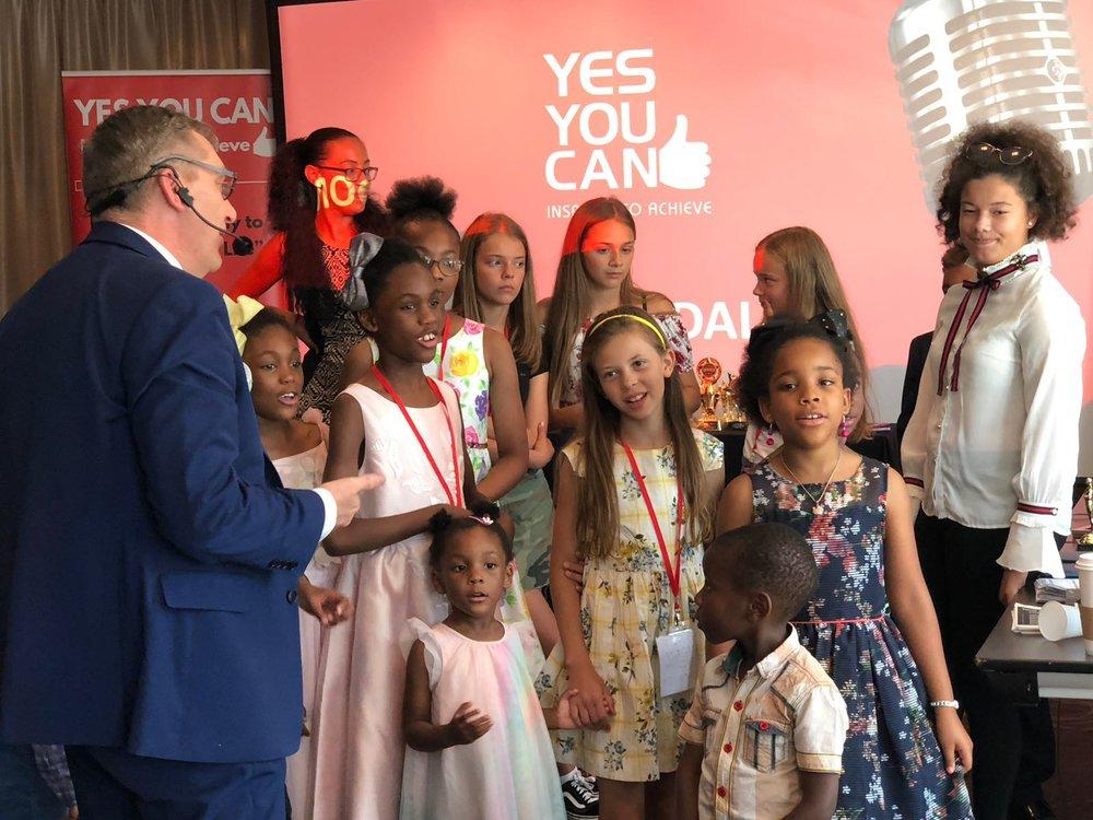 Austeja Neringa with fellow Kidpreneurs and Speakers