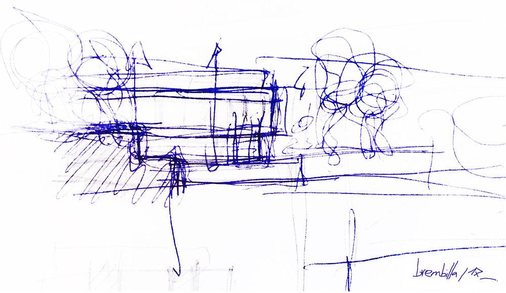 LA SCALA / LA MAISON PAPILLON - Dans le cadre de la création d'une maison d'habitation à usage privé, l'enjeu de ce travail de conception est de pouvoir utiliser au mieux le relief du terrain face a un panorama exceptionnel.Comment révéler une architecture et son environnement, comment lui donner un sens, une histoire, et surprendre, comment définir une articulation entre enveloppe architecturale extérieure et enveloppe architecturale intérieure tout en donnant des fonctions pertinentes aux espaces et des circulations fluides et singulières .Le choix essentiel de ce projet est de profiter des hauteurs du relief du terrain et l'intention visuelle est de pouvoir susciter sur la partie « ouverte » du projet, un sentiment de légereté et d'ouverture sur l'environnement, comme si les baies ouvrantes devenaient porteuse de la structure et des planchers.Les casquettes du RDC en porte à faux souligne cet effet de légereté, ouvre la vue au Sud Ouest sur le golf et sur la piscine par un pan coupé.« La Scala », comme théâtre de mise en scène, l'ambition de cette théâtralisation de l'espace est de faire apparaître la scène sur l'ensemble du terrain, comme lieu de plaisirs, et de partages, et de rendre quasiment aveugle la face Nord et Est de la structure, afin de jouer de ces contrastes et de ces oppositions.« La Scala » comme un rideau de scène fermé à l'entrée du terrain et à l'accueil de l'habitation, et qui s'ouvre amplement sur l'arrière au sud et sud-ouest, pour laisser apparaître toute la transparence de la scène, à l'endroit où le toit terasse se joue d'un pin comme un Hula Hoop.La scénographie globale de ce projet conditionne la volumétrie et l'organisation spatiale de l'habitation, elle est la logique de cette histoire.Réception Septembre / Octobre 2019Pierre-Antoine Compain / Philippe Dinh