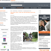 TOUR EUCOR 2015: MEHR ALS 700 KILOMETER DURCH DREI LÄNDER - innovations report, 28.05.2015