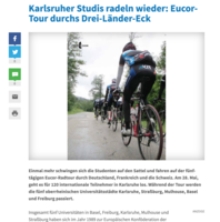 EUCOR-TOUR DURCHS DREI-LÄNDER-ECK - ka-news, 28.05.2014
