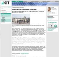 Tour EUCOR 2013 – 700 Kilometer in fünf Tagen - KIT Pressestelle, 24.05.2013