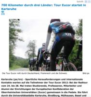 Tour Eucor startet in Karlsruhe - ka-news, 21.05.2012