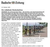 Der schlafende Hochschulriese Eucor - Badische Zeitung, 23.10.2009