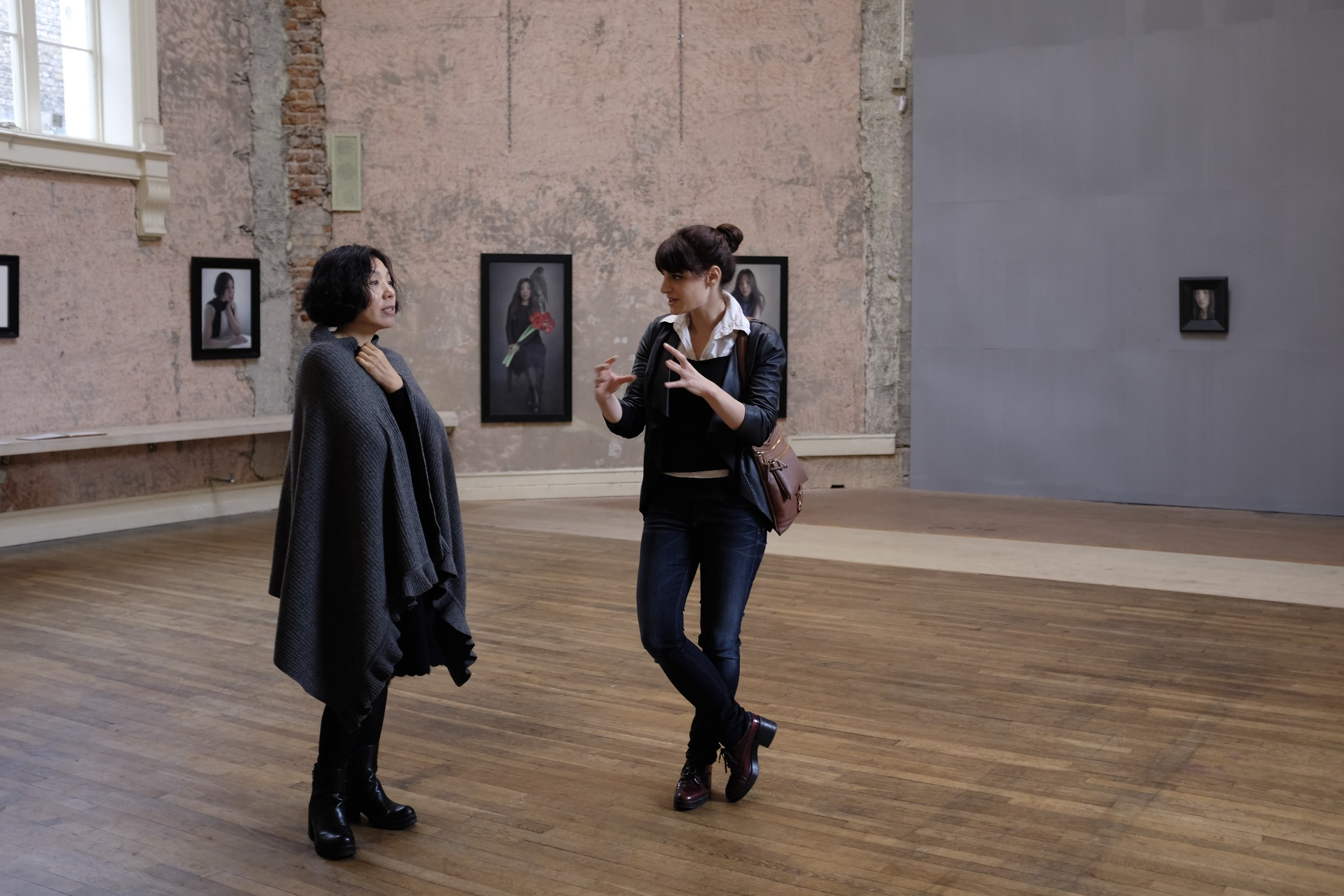 Miseon Lee with Nina Panagopoulou