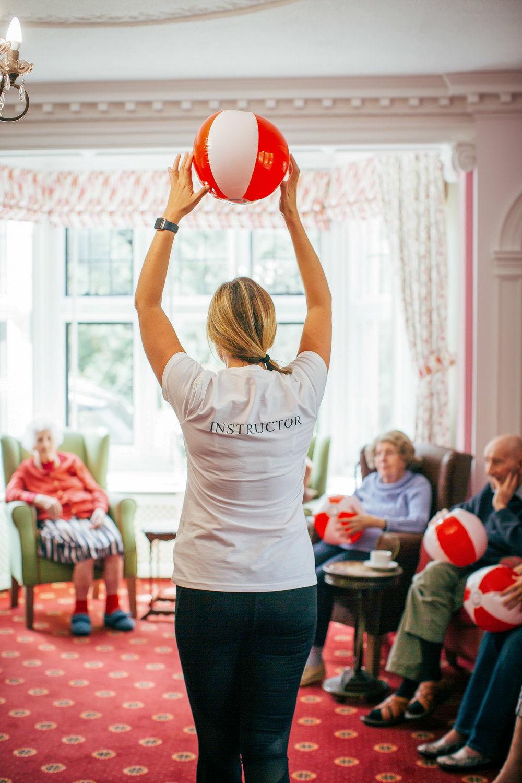 elderly, fitness, care home,