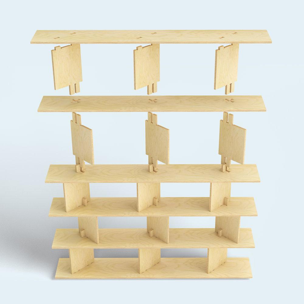 FIT_Furniture-Neubau_Shelf_exploded-Ronen_Kadushin