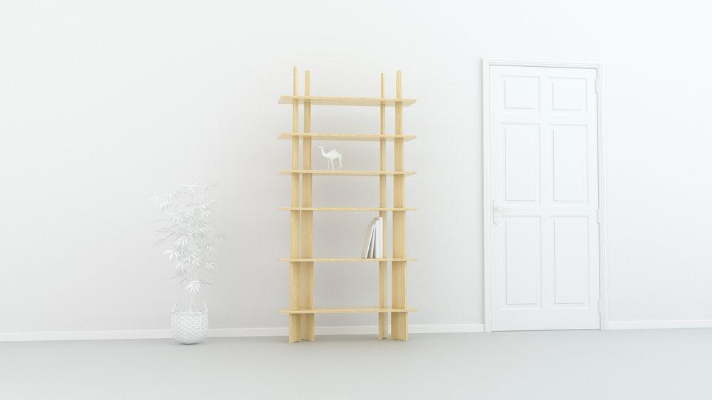 FIT_Furniture-Forest_shelf_Narrow_shelf-Ronen_Kadushin