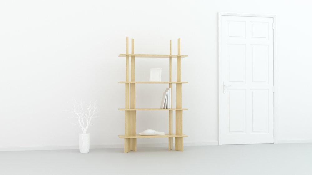 FIT_Furniture-Forest_shelf_Narrow_4_shelf-Ronen_Kadushin