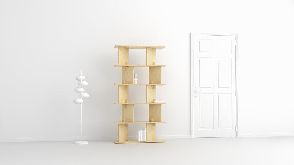 FIT_Furniture-Neubau_shelf_Narrow_shelf-Ronen_Kadushin
