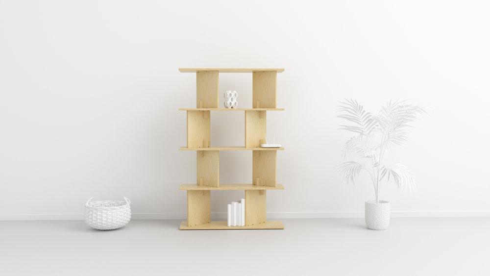FIT_Furniture-Neubau_shelf_Narrow_5_shelf-Ronen_Kadushin