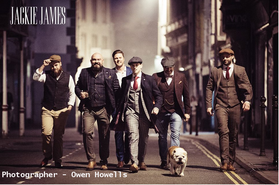 Jackie James - Jackie James provides a nod of old school glamour to all their grooms. Situated in their stylish Gentleman's Boutique in Carmarthen, they offer something a little bit different for the men of your wedding.