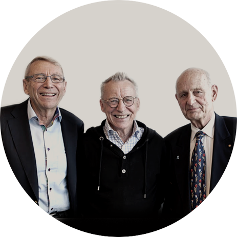 THE FORESIGHT FOUNDERS - From the left, Sven Atterhed, Lennart Boksjö and Gustaf Delin.