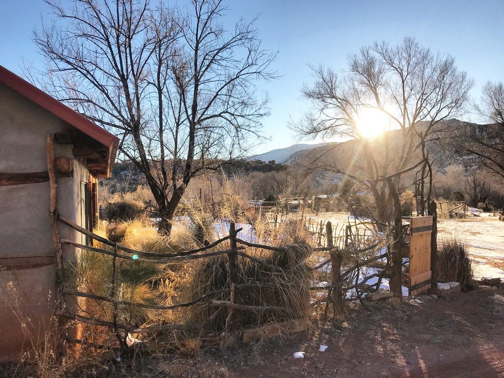 Winter Solstice from Casita, 2019.