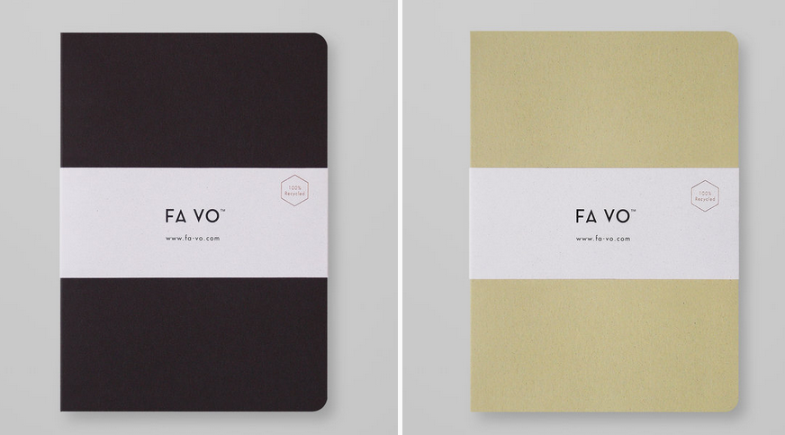 Fa Vo - 100% RECYCLED NOTEBOOKSFA VO notebooks are made with the highest quality recycled materials available on the market. All the raw materials used in their products are accredited, awarded and certified. They carefully select suppliers and manufacturers that have the highest environmental standards, awards, certifications and public recognition. When you purchase their products you are contributing directly to the planting of new trees and the increase of environmental sustainability and awareness.HOW THEY GIVE BACKA percentage of sales goes directly to their environmental partners who take care of existing and new trees.CLICK HERE TO VIEW