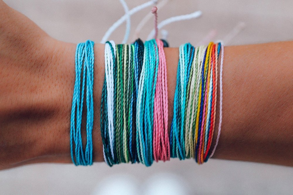 """Pura vida - FEEL GOOD BRACELET PACKEvery Pura Vida Bracelet is carefully handcrafted by artisans around the world. """"Pura Vida"""" means """"pure life"""" in Spanish, a Costa Rican philosophy that encourages the appreciation of life's simple treasures. The artisan's dedication to the """"pura vida"""" way of life is demonstrated in the seemingly endless colour combinations and innovative styles.HOW THEY GIVE BACKThrough the Charity Collection, Pura Vida have partnered with over 174 different charities around the world and have donated more than $1,534,879.20 to causes they believe in.CLICK HERE TO VISIT SITE"""