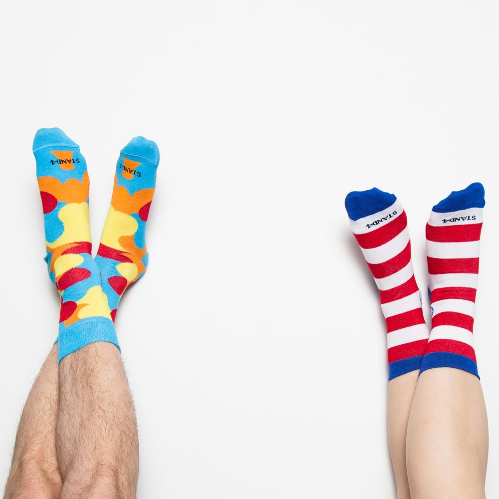 Stand 4 socks - Stand For Socks sells….wait for it…..socks! But hang on …what if socks could change the world? This is exactly what founder Josh Turner announced to his friends. A bold concept, but when you stop and think about it, most of us wear socks....and if each pair has a positive impact, then why can't socks change the world? The socks come in all weird and wonderful designs and are either made of bamboo or cotton.HOW THEY GIVE BACKCurrently their socks support 11/17 of the Sustainable Development Goals represented by a small cause logo on the ankle of the sock, Your sock purchase could be powering a hospital, clearing landmines to planting trees!A pair of socks is also donated to the homeless with every purchase.CLICK HERE TO VISIT SITE