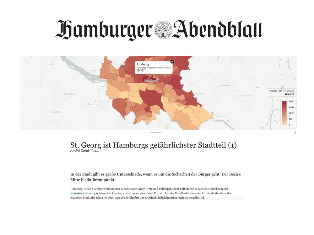 Der Hamburger Kriminalitätsatlas - Hamburger Abendblatt