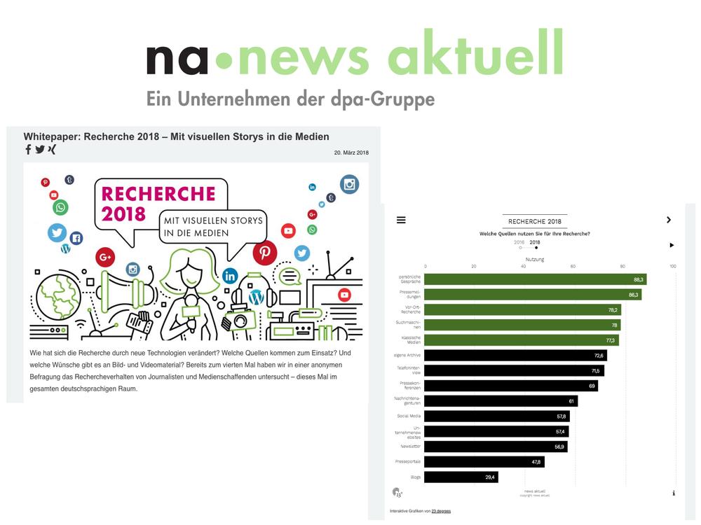 Recherche 2018 - news aktuell