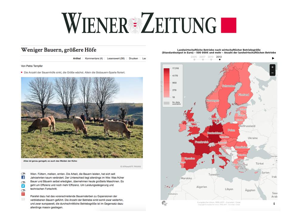 Weniger Bauern, grössere Höfe - Wiener Zeitung