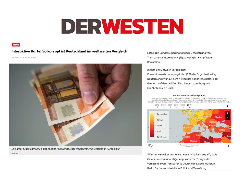 So korrupt ist Deutschland im weltweiten Vergleich - Der Westen