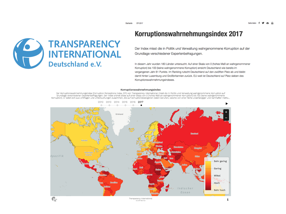 Korruptionswahrnehmungsindex - Transparency International Deutschland