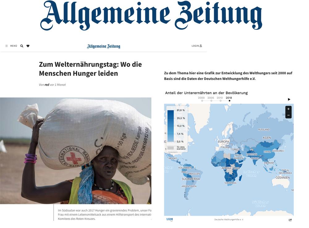 Wo die Menschen Hunger leiden - Allgemeine Zeitung