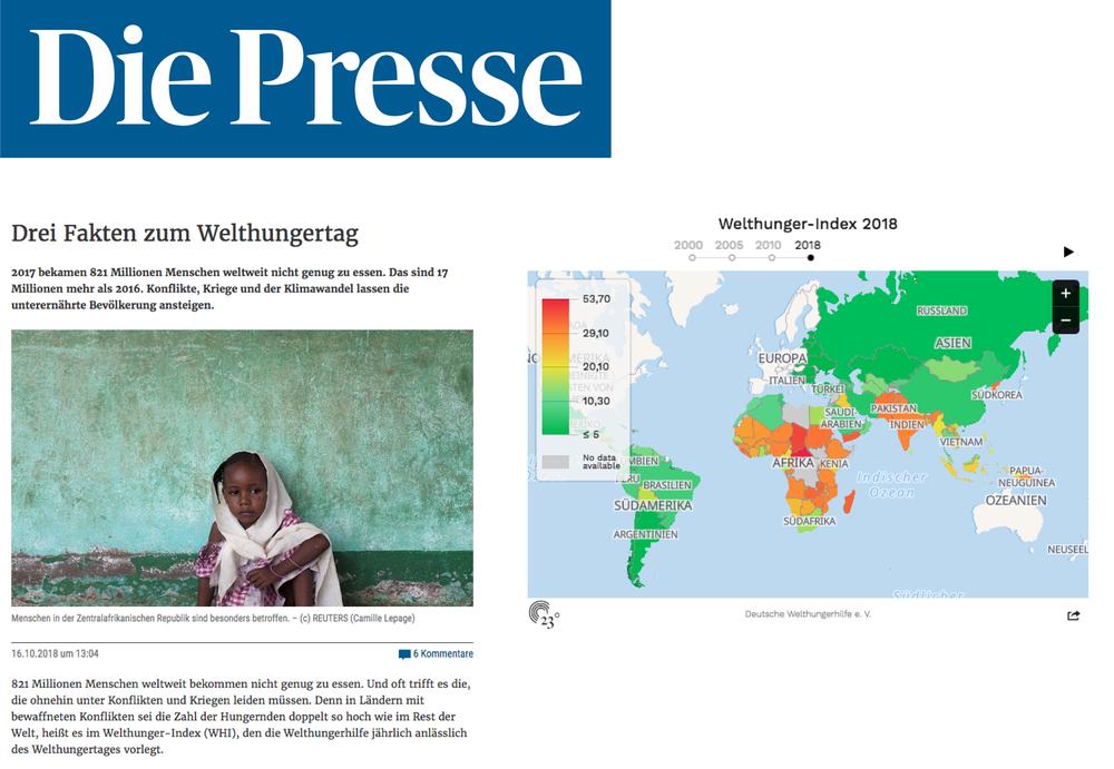 Drei Fakten zum Welthungertag - Die Presse