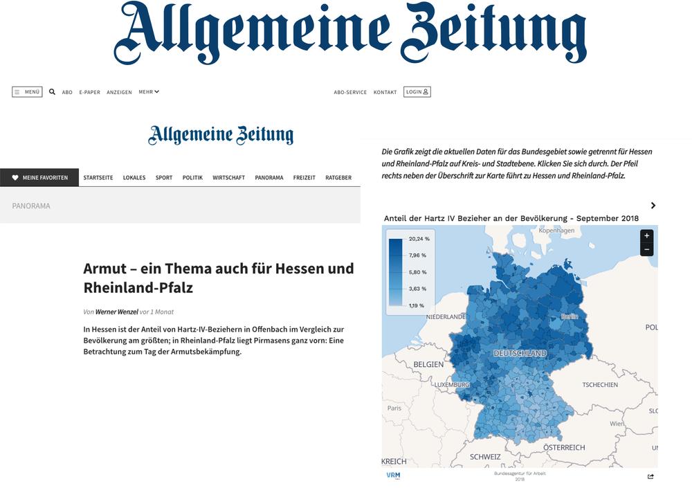 Armut – Ein Thema auch für Hessen und Rheinland-Pfalz - Allgemeine Zeitung