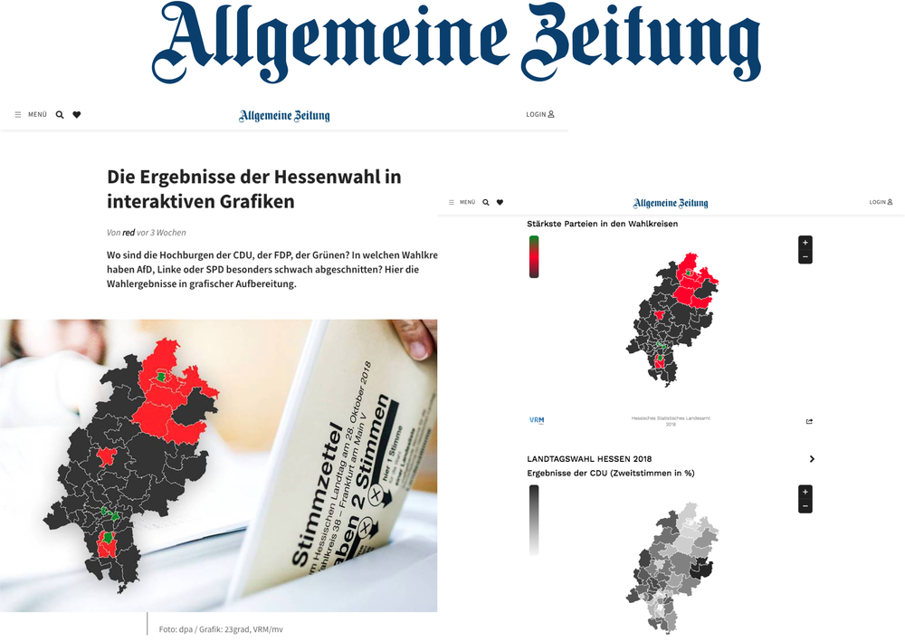 Die Ergebnisse der Hessenwahl - Allgemeine Zeitung