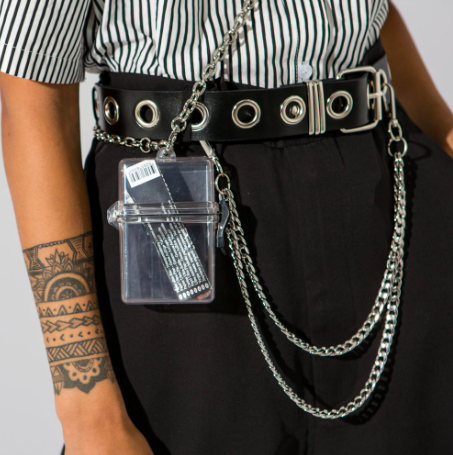 Clear mini box belt