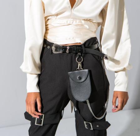 Belt with mini purse