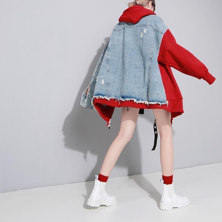 Half and half jacket