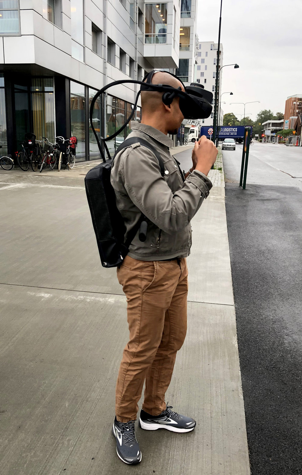 Mauro testar AR utrustning