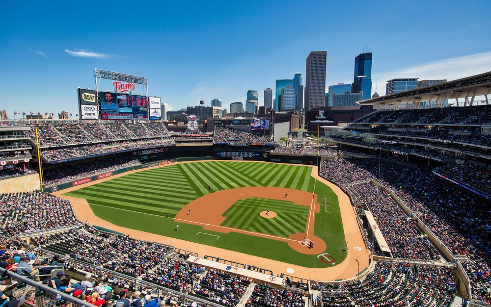 """Target Field - Home of the MN Twins - Take a guided tour of Target Field with all its sustainable features, artwork and Minnesota Twins history. Rated a Top 10 MLB Stadium Experience by """"ESPN the Magazine,"""" it's a tour you won't want to miss! Please arrive at Gate 29 to begin your adventure."""