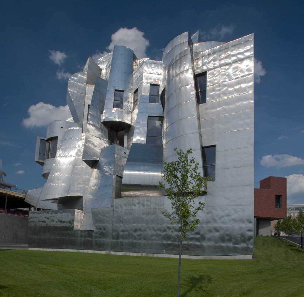 """Weisman Art Museum - Stop by anytime during the weekend and pick up a """"Perceive"""" card from the front desk to help you investigate artworks in the galleries. Or, join us at 1 pm for a free public tour leading you through the building's architecture and a sneak peek into world-renowned architect Frank Gehry's process."""