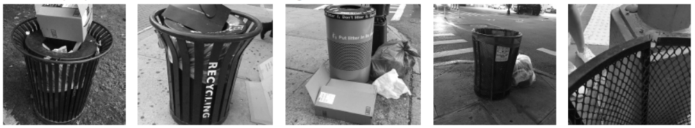 Problems we found on the recent trash bin on NYC streets.