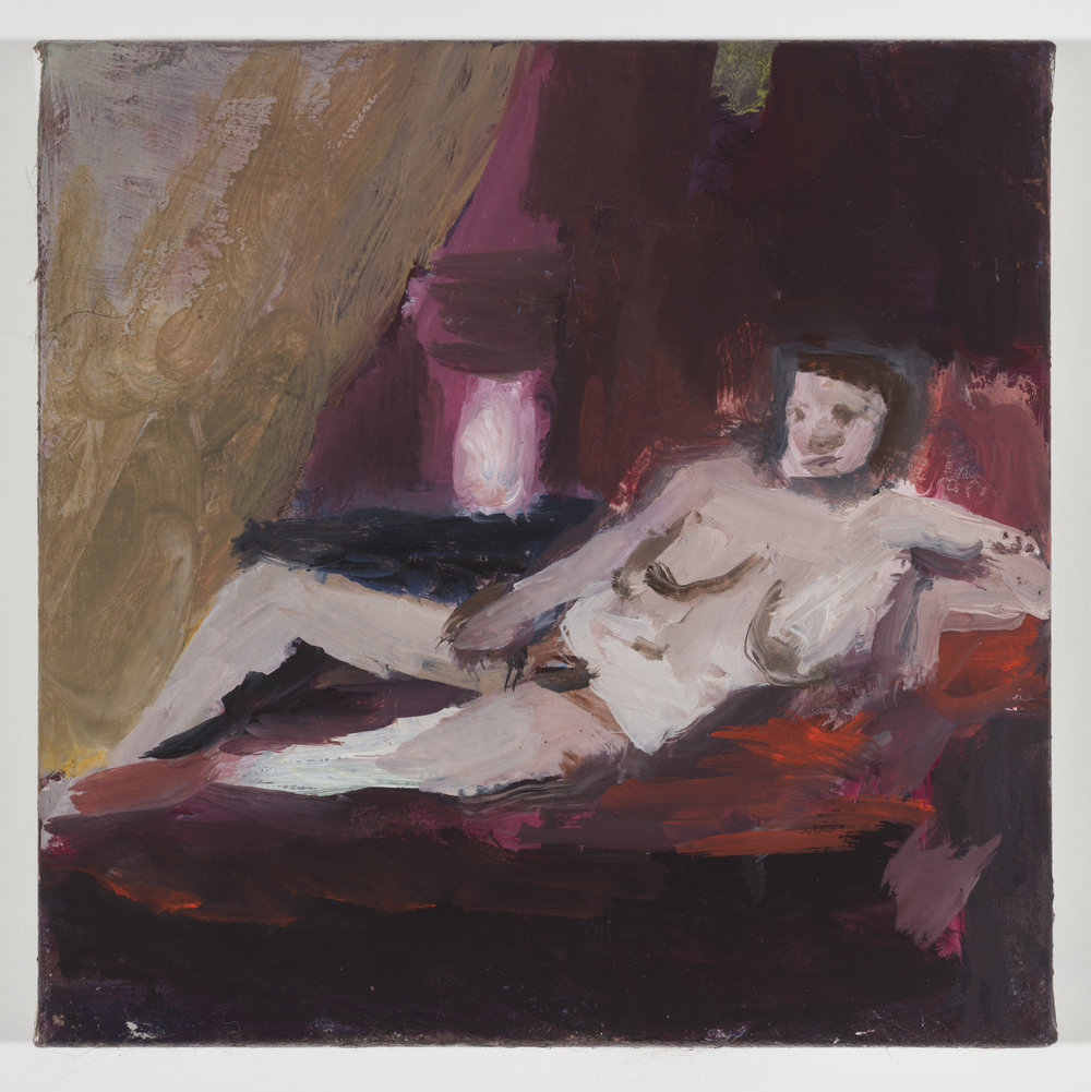Reclining Nude on a Red Divan