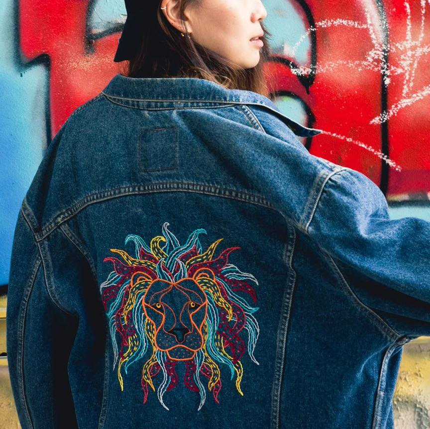 CREATE YOUR UNIQUE PIECE - We provide a variety of vintage closet to customize as denim jackets, pants…You can also send us your personal piece.