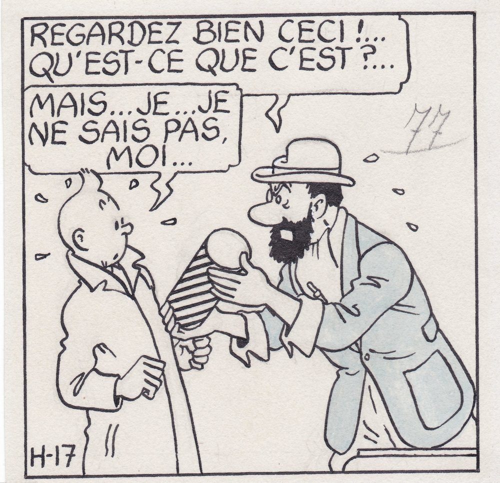 Franco-Belgian comic by cartoonist Hergé.