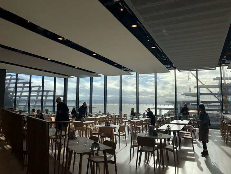 Great views from the V&A Museum's cafe.