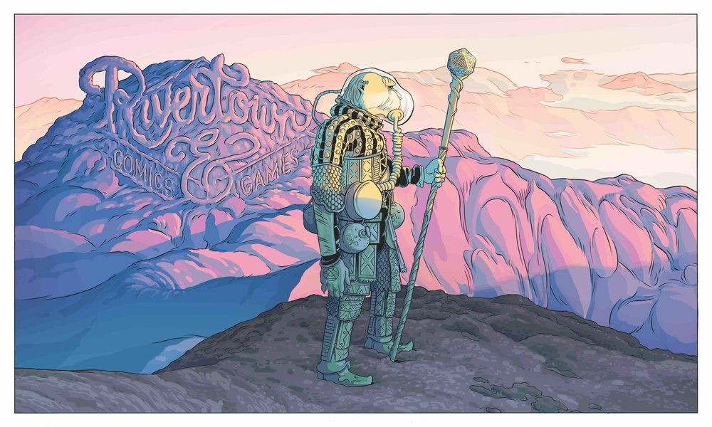 RIVERTOWN COMICS PLAYMAT BY MALACHI WARD AND MATT SHEEAN