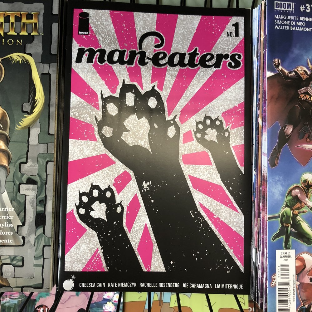 MANEATERS #1 - Chelsea Cain of Mockingbird fame brings the noise for fans of Bitch Planet.