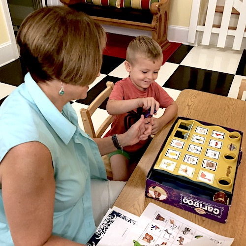 Lynn Carswell Language Therapy with Little Boy