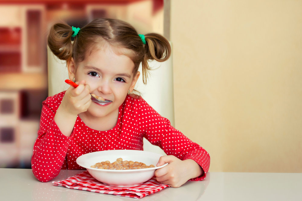 Feeding Therapy - Young Girl Eating Cereal