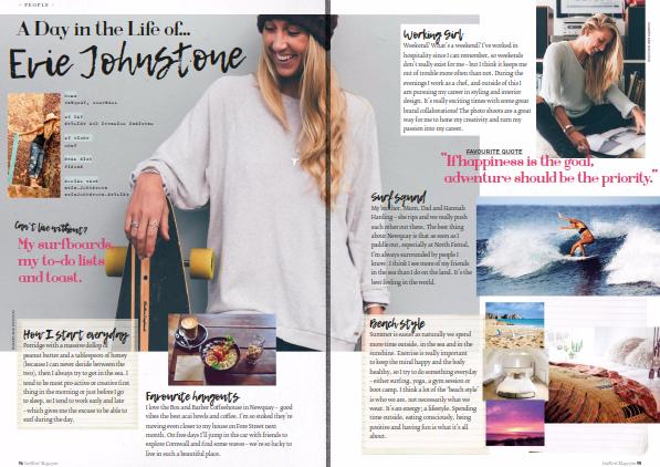 Surfgirl Magazine - Evie Johnstone is wearing all DAISYV jewellery.