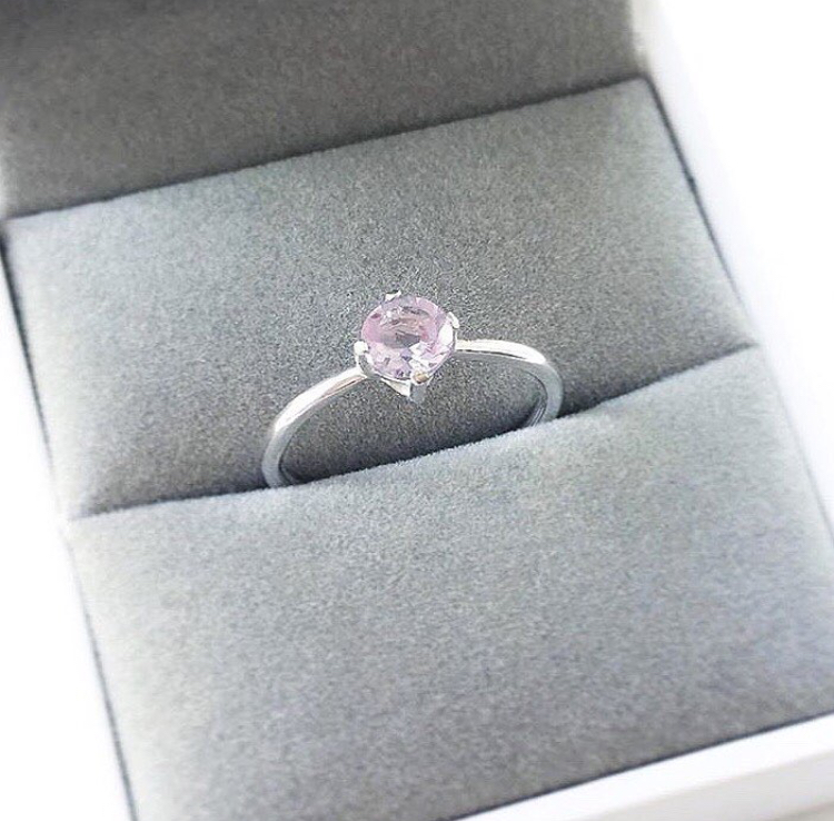 Pink Amethyst engagement ring.