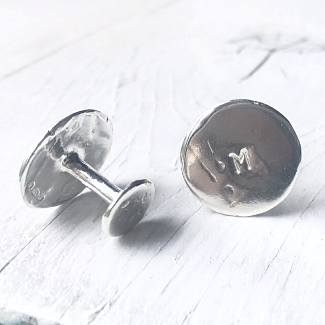 Wedding cufflinks for the groom.