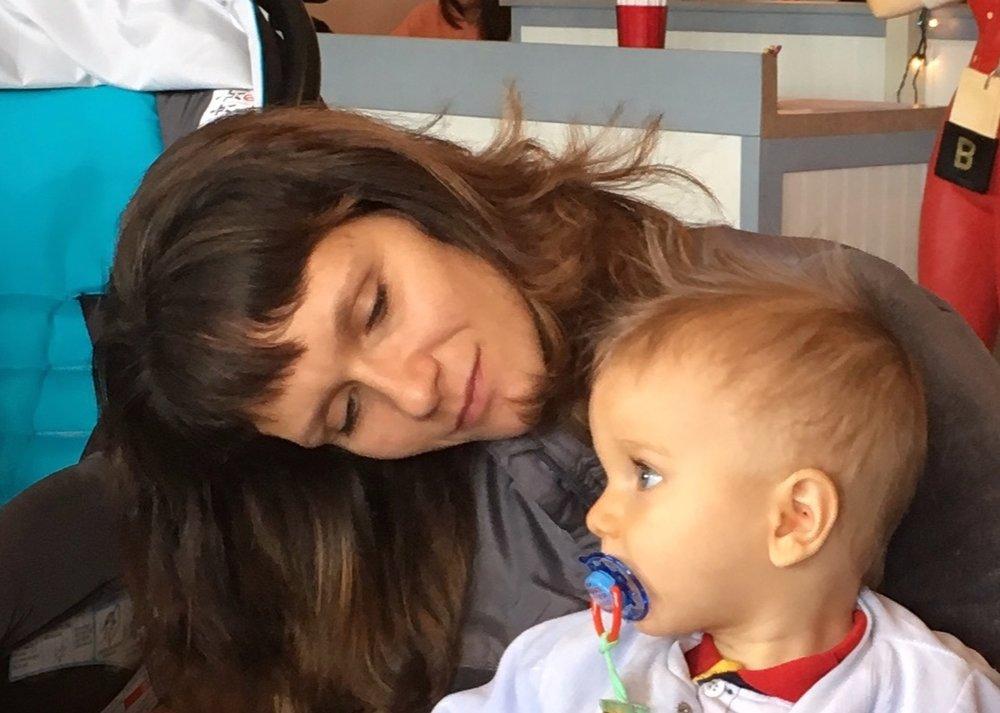 Mariya Ivanov with son Ruslan