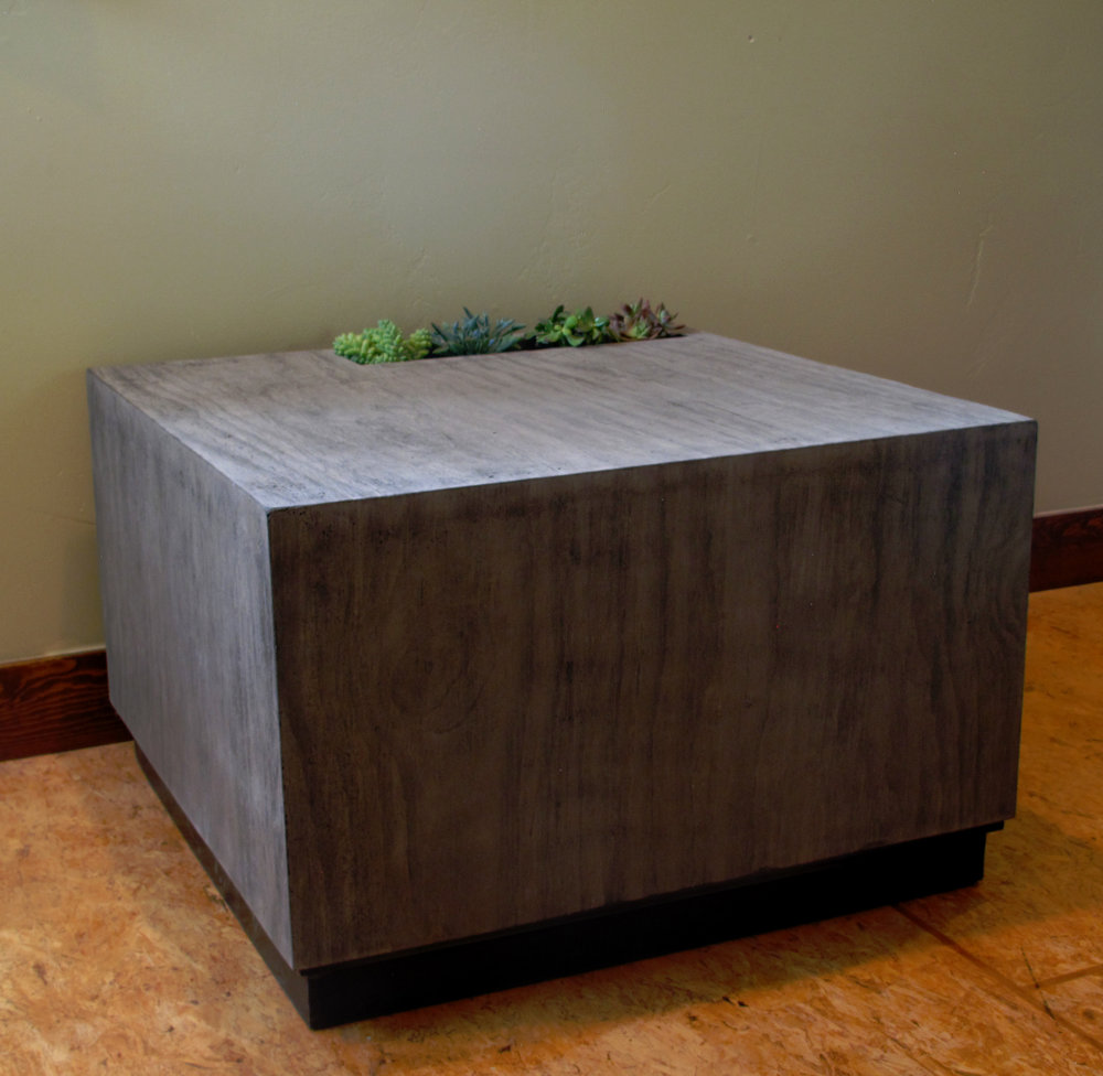 GFRC Board Formed Concrete End Table with integrated planter.JPG